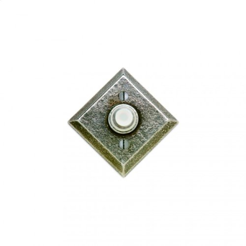 Diamond Doorbell Button White Bronze Medium