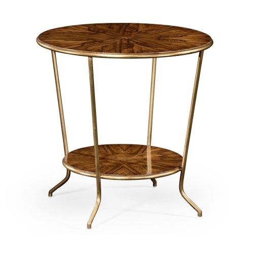 Argentinian Walnut Veneered Round Side Table