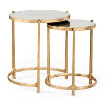 glomise & Gilded Iron Round Nest of Tables