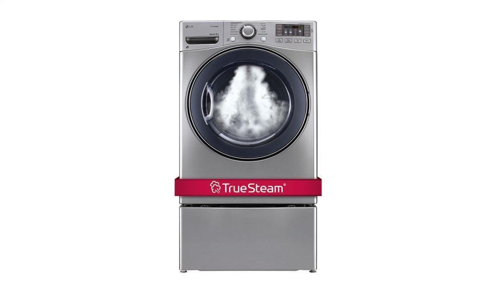 7.4 cu. ft. Ultra Large Capacity SteamDryer w/ NFC Tag On  GRAPHITE STEEL