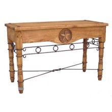 Star Sofa Table W/ Iron Accents