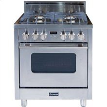 """Stainless Steel 30"""" Gas Range with Convection Oven"""