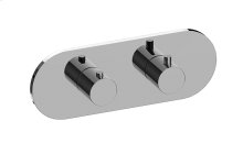 M-Series Round Horizontal Thermostatic 2-Hole Trim Plate and Handle