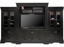 Phillipe 4/Pc Wall Unit With Bifold Pocket Doors