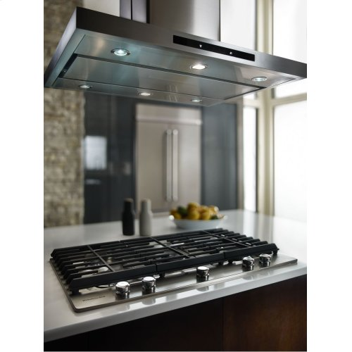 "36"" Island-Mount, 3-Speed Canopy Hood - Stainless Steel"