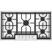 "36"" Gas Cooktop 500 Series White NGM5624UC"