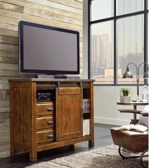 Sliding Door Media Chest