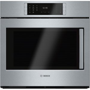 "BoschBENCHMARK SERIESBenchmark Series, 30"", Single Wall Oven, SS, EU Conv., TFT Touch Control, Left Swing"