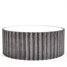 Reflective Column Cocktail Table-Black Cerused Oak
