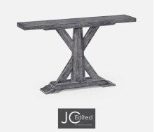 Antique Dark Grey Rectangular Console