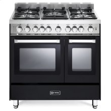 "Matte Black 36"" Gas Double Oven Range - 'N' Series"