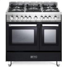 "Matte Black 36"" Gas Double Oven Range - 'N' Series"