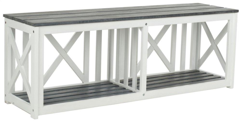 Branco Bench - White / Ash Grey