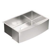 """1800 Series 30"""" x 21"""" stainless steel 18 gauge single bowl sink"""