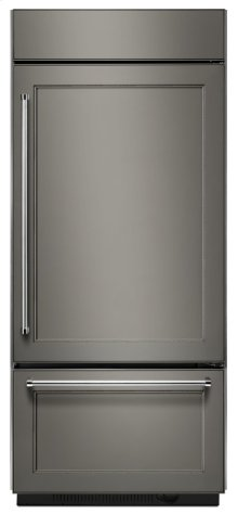 "20.9 Cu. Ft. 36"" Width Built-In Stainless Bottom Mount Refrigerator with Platinum Interior Design - Panel Ready"