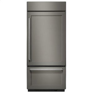 "KITCHENAID20.9 Cu. Ft. 36"" Width Built-In Stainless Bottom Mount Refrigerator with Platinum Interior Design - Panel Ready"