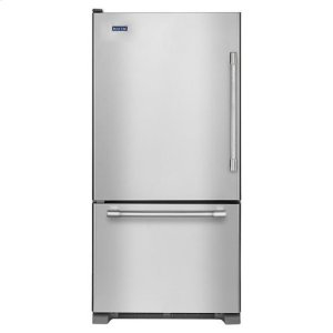 MAYTAGMaytag(R) 30-inch Bottom Freezer Refrigerator with Freezer Drawer - Fingerprint Resistant Stainless Steel