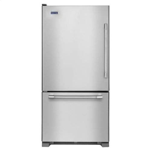 Maytag® 30-inch Bottom Freezer Refrigerator with Freezer Drawer - Fingerprint Resistant Stainless Steel