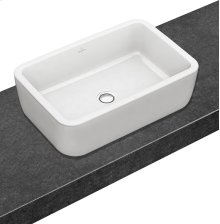 Surface-mounted washbasin (rectangular) Angular - White Alpin
