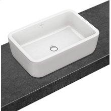 Surface-mounted washbasin (rectangular) Angular - White Alpin