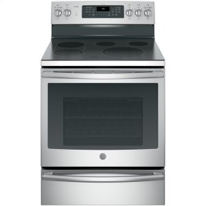 "GE ProfileSeries 30"" Free-Standing Electric Convection Range"
