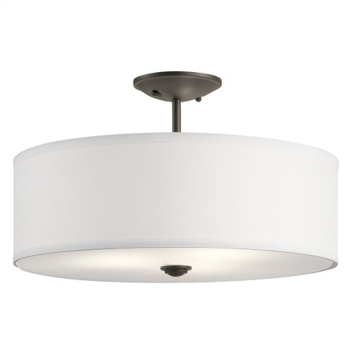 "Shailene Collection Shailene 18"" 3 Light Semi Flush OZ"