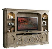 Corinne Entertainment Console Sun-drenched Acacia finish