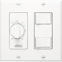 60 Minute Time Control with two rocker switches, White