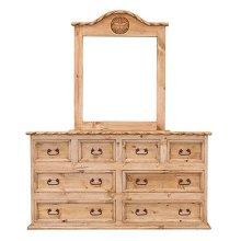 "65"" Dresser 8-Drawers W/Rope"