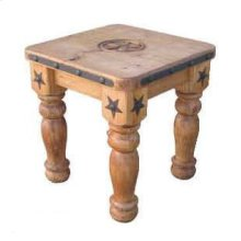 "5"" Leg Star End Table"
