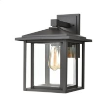 Solitude 1-Light Sconce in Matte Black with Clear Glass