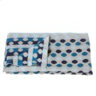 Knit Multi Blue Dot Blanket. Product Image