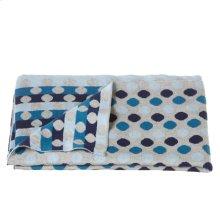 Knit Multi Blue Dot Blanket.