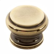 Tuscany Bread Box Knob A230 - Polished Antique
