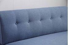 8339 Blue Armless Loveseat