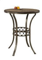 Lannis Bar Height Bistro Table - Ctn A - Wood Top Product Image