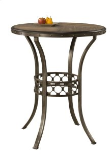 Lannis Bar Height Bistro Table - Ctn A - Wood Top