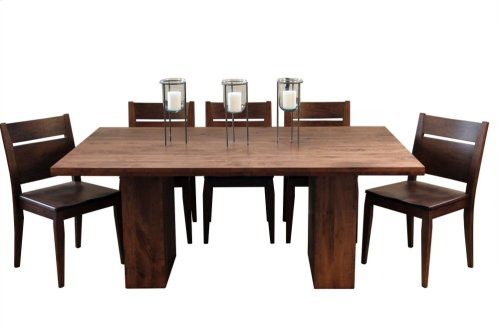 Twin Pillar Solid Top Table