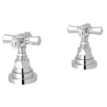 "Polished Chrome San Giovanni Set Of Hot & Cold 1/2"" Sidevalves with Cross Handle"