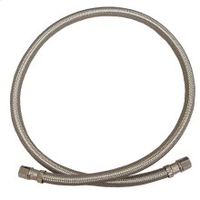 """1/4"""" x 1/4"""" OD x OD Flexible Stainless Steel Icemaker Connector 60"""" Length"""