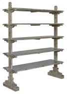 Bengal Manor Mango Wood 5 Tier Aged Ash Open Bookshelf Product Image