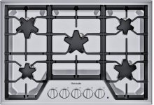 30-Inch Masterpiece® Star® Burner Gas Cooktop, ExtraLow® Select SGSX305TS