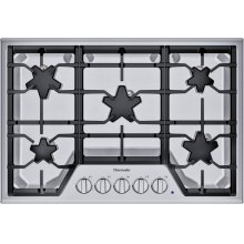 30-Inch Masterpiece® Star® Burner Gas Cooktop, ExtraLow® Select