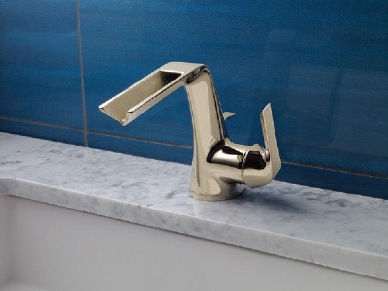 Single Handle Lavatory Faucet With Channel Spout
