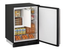 """1000 Series 24"""" Refrigerator/freezer With Stainless Solid Finish and Field Reversible Door Swing (115 Volts / 60 Hz)"""
