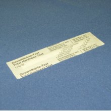 Water hardness test strip