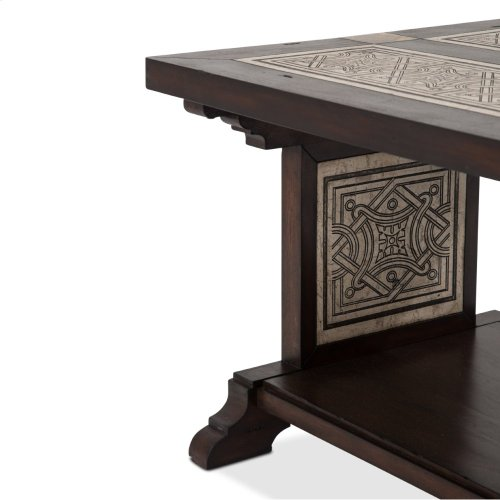 La Paz Rectangular Cocktail Table W/stone Etched Inlay