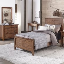 Twin Panel Bed, Dresser & Mirror