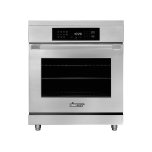 """Dacor30"""" Induction Pro Range, Silver Stainless Steel"""
