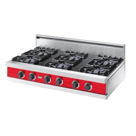 "Racing Red 42"" Open Burner Rangetop - VGRT (42"" wide, six burners)"